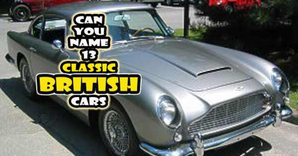quizwow - Can You Name 13 Classic British Cars?